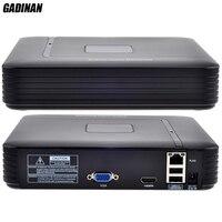 GADINAN Mini 4 Channel NVR HDMI Output Security Standalone CCTV NVR 4CH 1080P 8CH 960P ONVIF