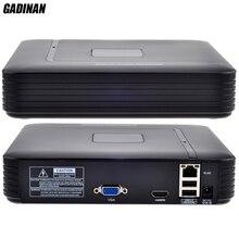 GADINAN Mini 4 ช่อง NVR HDMI เอาต์พุต Security กล้องวงจรปิด NVR 4CH 1080 จุด/8CH 960 จุด ONVIF 2.0 สำหรับระบบกล้อง IP 1080 จุด