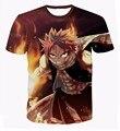 Homens Harajuku t-shirt clássico Anime fada cauda t-shirt moderno 3D T camisa Etherious Natsu Dragneel de t-shirt