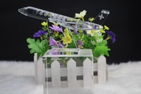 Free shipping Hot Sale crystal craft 1pcs/lot Excellent K9 Quality crystal airplane for business gift