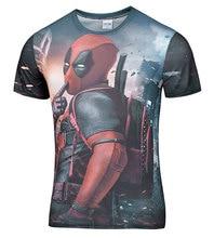 2016 American Comic Marvel Deadpool Printed 3D T-Shirt Men/Women Superhero Swag Funny T Shirts Summer Tee Tops T Shirt