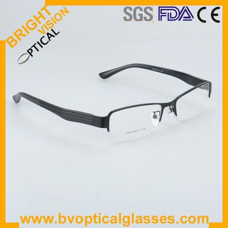 2299blackside Factrory price half rim vintage optical frames eyewear glasses