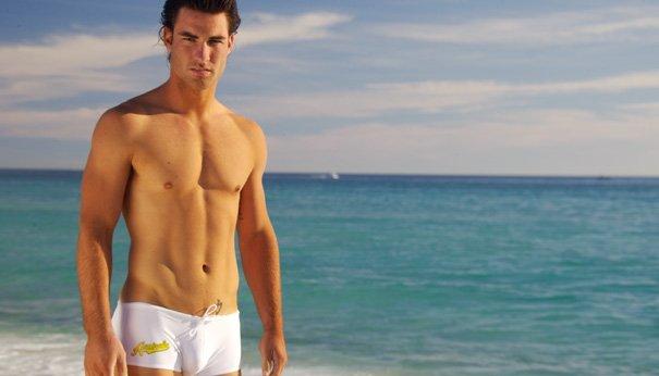 Мужские плавки с плоским солнечным светом, 4 цвета, буквенные вывески