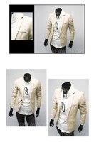 бесплатная доставка новый мужские костюмы тонкий отдыха подходит всплеск цвет личности высокого качества куртка размер М-XXL