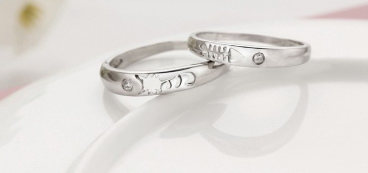 5 Off Wedding Rings For Men And Women Engagement Silver Color Cat Fish Ring Valentine S Day Crystal Jewelry J259