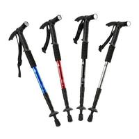 New Extendable Aluminum Alloy Outdoor Hiking Walking Canes Walking Sticks with Compass+Led Light YA