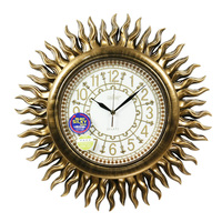 Luxury Antique Fashion Mute Wall Clock Decoration Vintage Gold Quartz Watches And Clocks LS 0048A