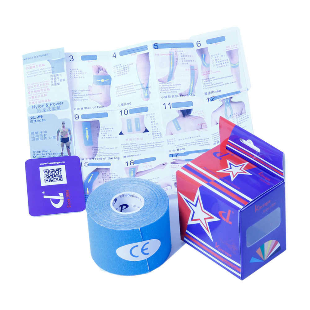 DL Brand Kinesiology tape No or with Kintape box+Manual Elastic Medical Adhesive Bandage Physio MuscleTherapy Sport Safety Care