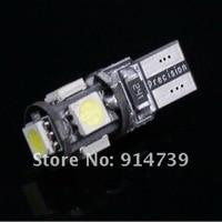 бесплатная доставка 20 шт./лот Т10 canbus автомобиля W5W и 194 5050 смд 5 из светодиодов ошибок белый свет лампы