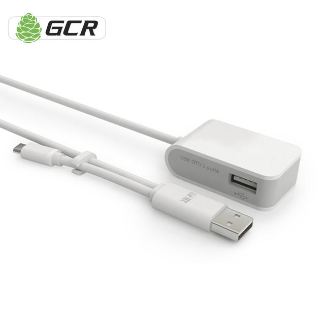 Greenconnect 480Mbps 2 Ports USB 2.0 HUB High Speed USB HUB Portable OTG HUB Splitter Adapter for PC Laptop Tablet Moblie Phone