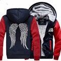 Hot New The Walking Dead Cosplay Hoodies  Zombie Daryl Dixon Wings  Fleece Hooded Jacket Harajuku  Winter Sweatshirts  CS26590