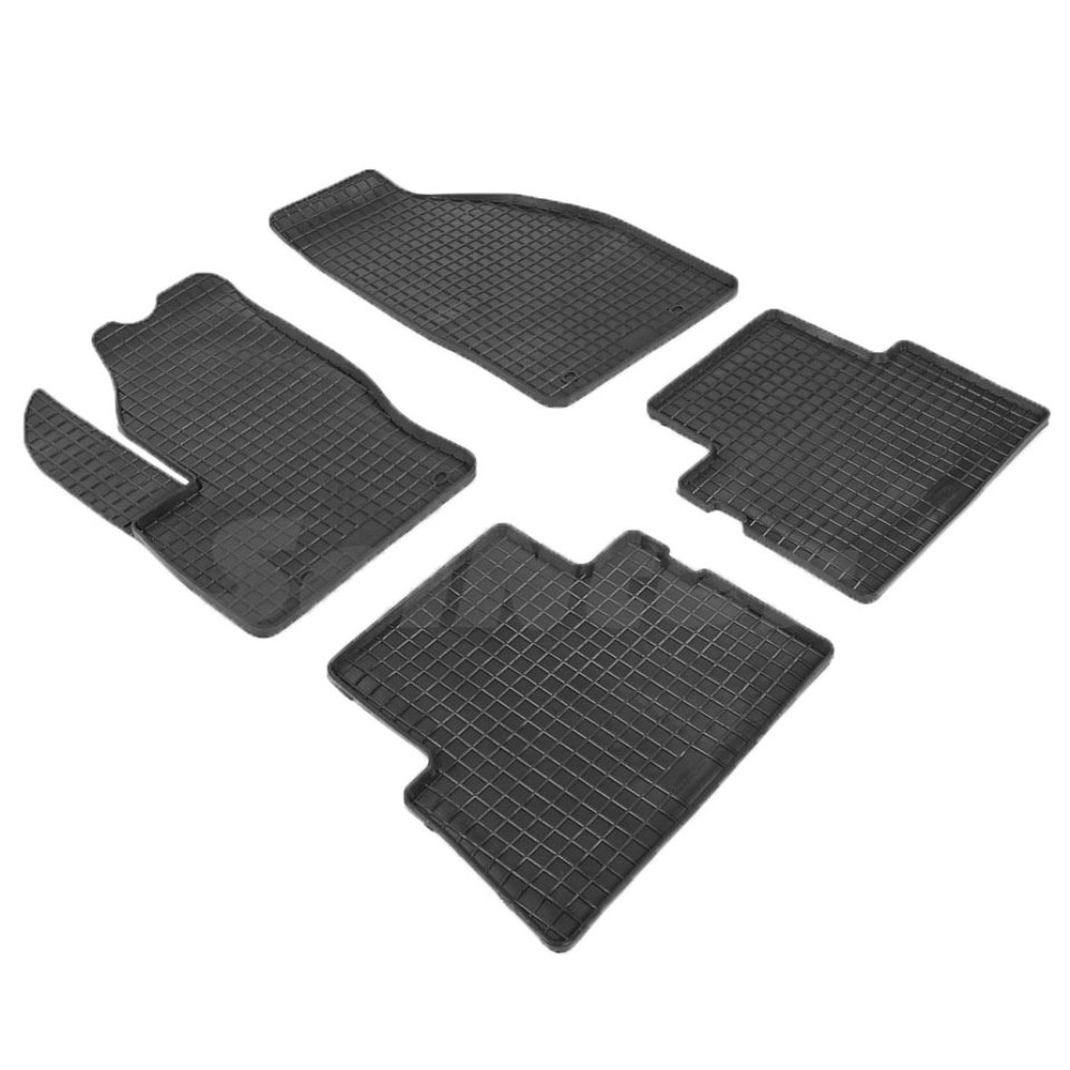 Rubber grid floor mats for Ford Kuga 2008 2009 2010 2011 2012 Seintex 00167 rubber grid floor mats for honda accord viii 2008 2009 2010 2011 2012 seintex 00758
