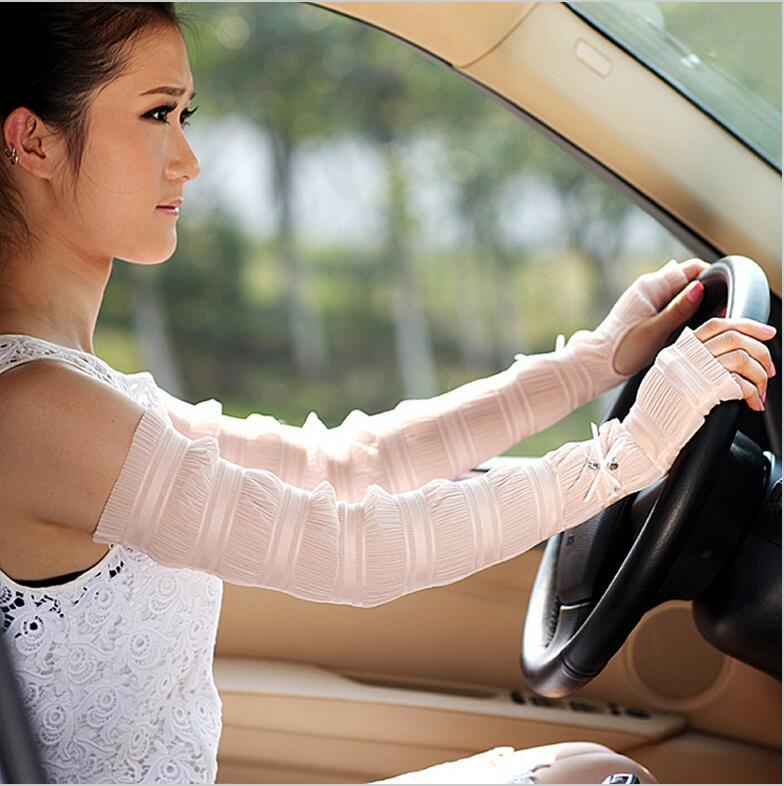 Hot! Women Sunscreen Gloves Female Summes