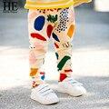 Olá Desfrutar meninas leggings crianças 2016 Do Bebê Leggings calças de menino personagens Dos Desenhos Animados da criança do bebê meninos Grafite calças cintura elástica