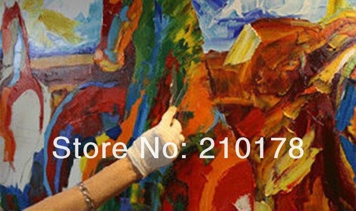 Pintados à mão pintura a óleo Grande