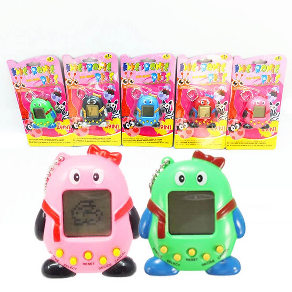 Hot Sale Mini Plastic Electronic Digital Pet Penguins Funny Toys Handheld Game Machine For Gift