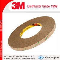 3M 300LSE Adhesive tape 9495LE for cell phone repairs, Clear, 0.17mm thick, 1''X55M/pc, Pack of 1