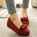 3 Colours women Bowtie Designer Flat Shoes round Toe Woman Shoes Candy Girl Footwears slip on flock shoes sapatilhas femininos
