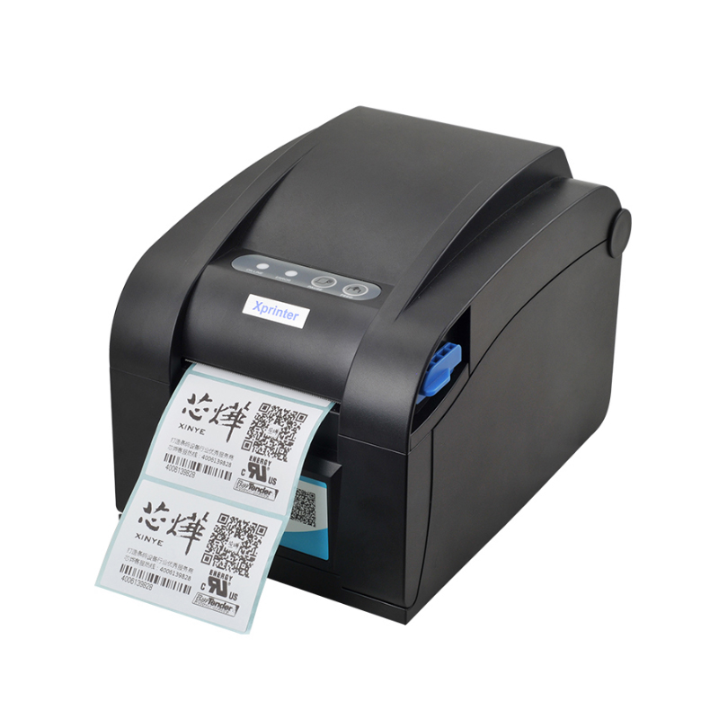Direct Thermal Line USB+LAN+RS232 port Barcode Label Printer barcode printer XP-358BM bar code printer with ethernet interface 58mm label barcode printer with direct thermal label and adhesive sticker pritner usb gp2120t for coffee store