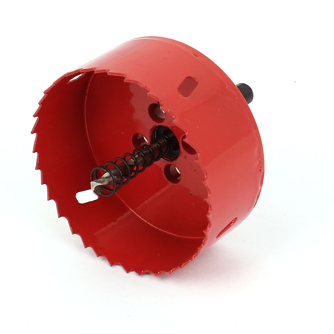 Подробнее о UXCELL 85Mm Cutting Dia Toothed Bi Metal Hole Saw Cutter Drill Bit Red For Wood Iron uxcell 42mm cutting dia 10mm shank twist drill bit bimetal hole saw cutter tool red