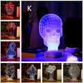 Free Shipping 11 Design 3D Color changing Wood Mood Lamp Amazing Acrylic 3D Illusion USB Table Lamp  LED Night Light Wholesale