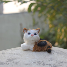 Newly handmade animal cute simualtion siting cat