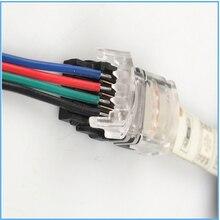 LED Клейкие ленты Интимные аксессуары RGB 10 мм 4PIN без пайки кабеля 18-22awg гибкие светодиодные полосы 4PIN разъем для 5050 RGB Водонепроницаемый полосы