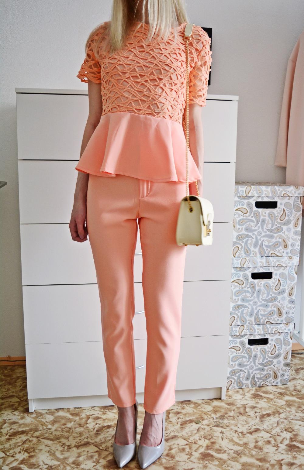 Летний костюм брюки + топ с Алиэкспресс
