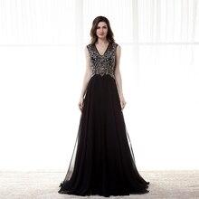 2016 neue Ankunft V-ausschnitt Bodenlangen Flügelärmeln Perlen Kristall Abendkleider Kleider Heiße Verkäufe vestido de noiva