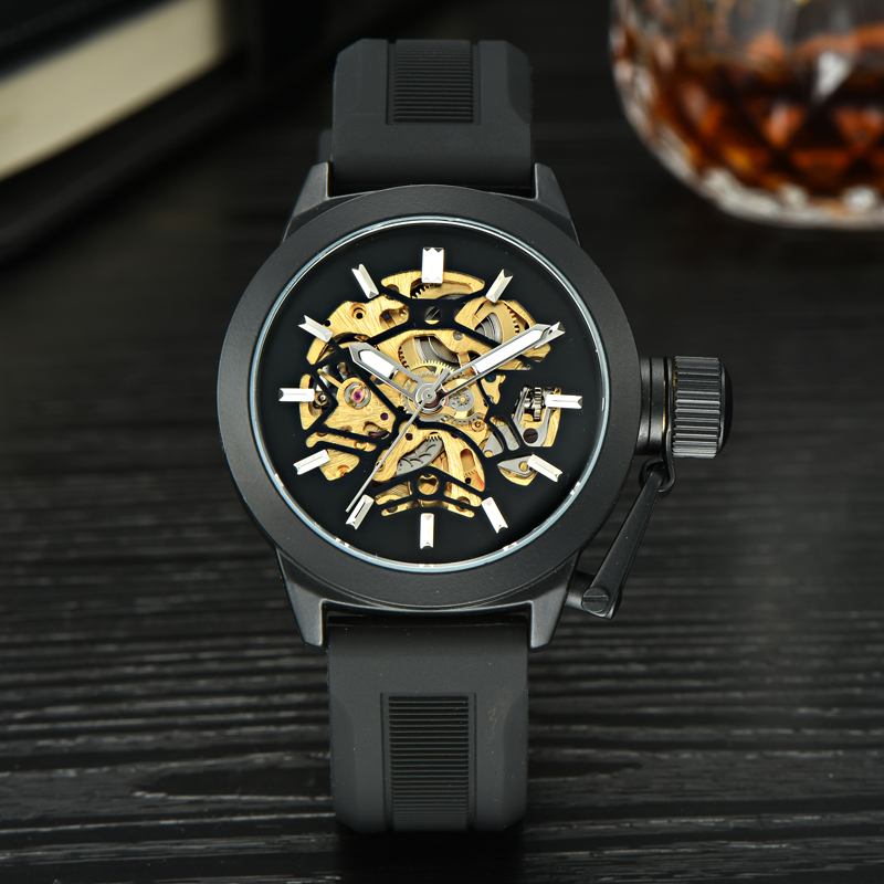 MCE Watch Top Brand font b Men s b font Automatic Watches Luxury Stainless Steel Case