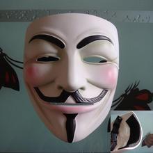 High-end V-word geek killer mask cos cover Ivok Halloween resin horror mask