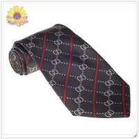 горячая! 1 шт. бесплатная доставка или смешивать заказы оптовая продажа полоса arabesquitic черный шелк сплетенные классический мужчины галстуки + новый дизайнер-0238