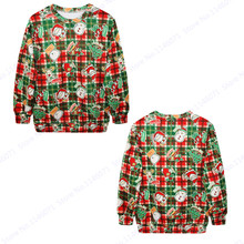 Merry Christmas Training Exercise Sweaters Red Green Tartan Mens Hoodie Santa Claus X Mas Tree Sweatshirt Autumn Oversize Jacket