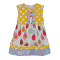 Fashion Lovely Baby Girls Summer Dress Polka With Cute Swing Infant Baby Clothing Boutique Children Hot Sale Spring Dress DX015