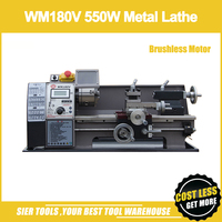 WM180V 550W Metal Lathe/Brushless Motor Lathe/300*180mm Lathe Machine with oil tray/Mini DIY Lathe Machine
