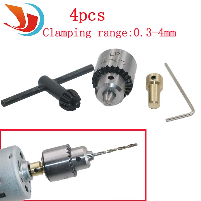 Фото Hot Electric Drill Grinding Mini Drill Chuck Key Keyless Drill Chucks 0.3-4mm Capacity Range W/ 3.17mm Shaft Connecting Rod