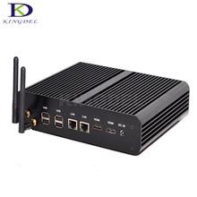 2017 Горячие малый бизнес Компьютеры безвентиляторный мини-ПК i7 4500U с SSD + HDD двойной LAN 2 * HDMI 4 * USB3.0 4 К HTPC 3D игры оптический SPDIF