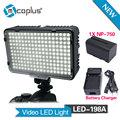 Mcoplus 198 LED Video Light with 1x NP-F750 battery & Charger for DV Camcorder Canon Nikon Sony Panasonic Olympus DSLR Camera