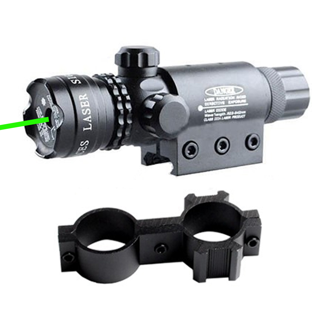 Green Laser Point Aim Sight Scope Tactical With Mount