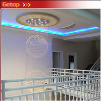 ZX Hot Sale Villa Double Entry Building Stairs Lamp Stateroom Lamp K9 Crystal Ball GU10 LED