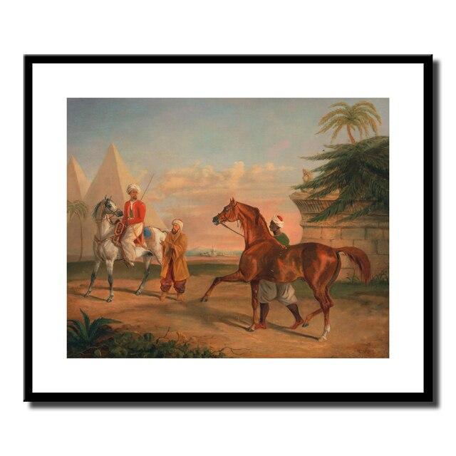 Mamelucas comprando un semental Árabe, Canvas Art Print Poster ...