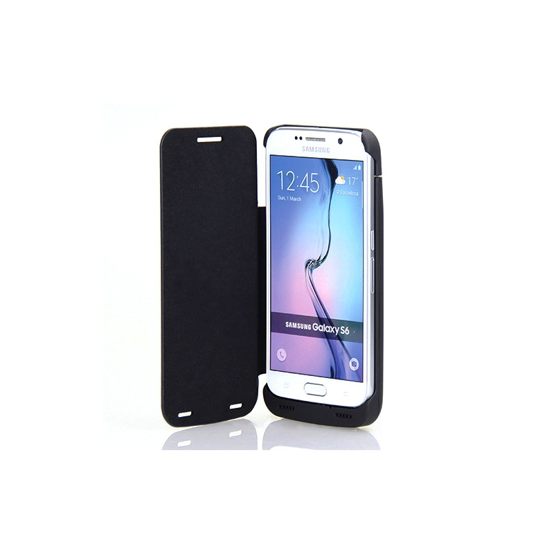 Cover for Samsung Galaxy S6 Case 4200mAh Flip Leather External Battery Charger Case for Samsung Galaxy