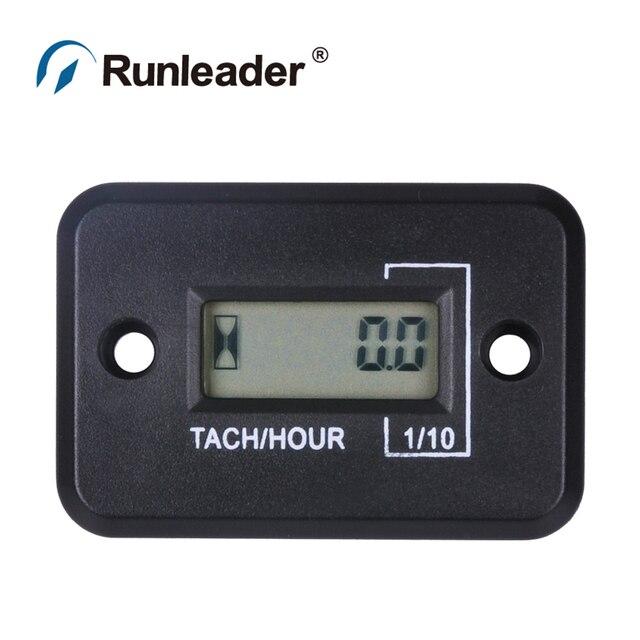 2/4 STROKE Inductive digital RPM Tach /  Hour Meter tachometer for motorcycle  jet ski  boats  forklift truck  dirt bike MX