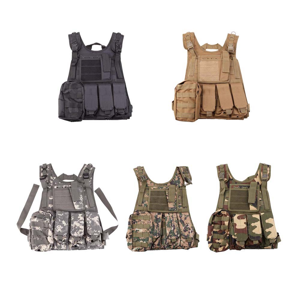 SWAT Airsoft CS Paintball Tactical Hunting Combat Assault Vest Outdoor Training Hunting Waistcoat Military Vest Safety Clothing