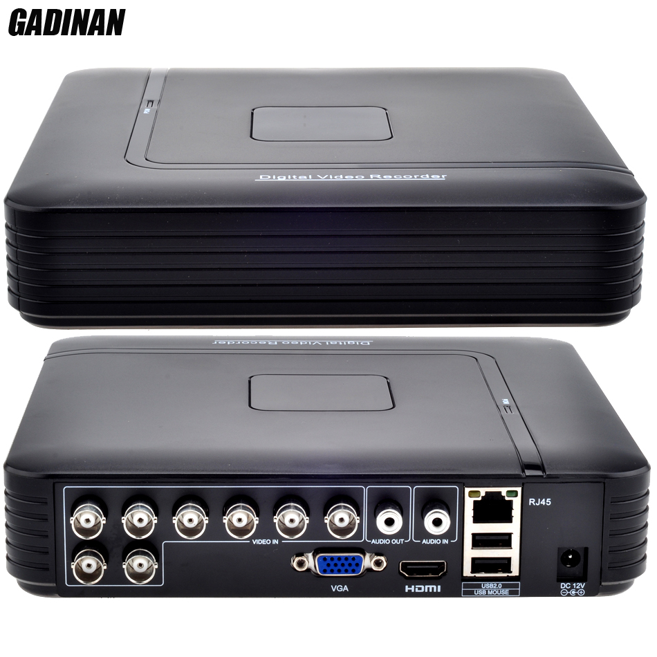 GADINAN AHD 8CH 1080N DVR Système ONVIF mini NVR 8CH 5 dans 1 CVI TVI AHD IP HDMI H.264 P2P nuage réseau CCTV 8CH AHD DVR