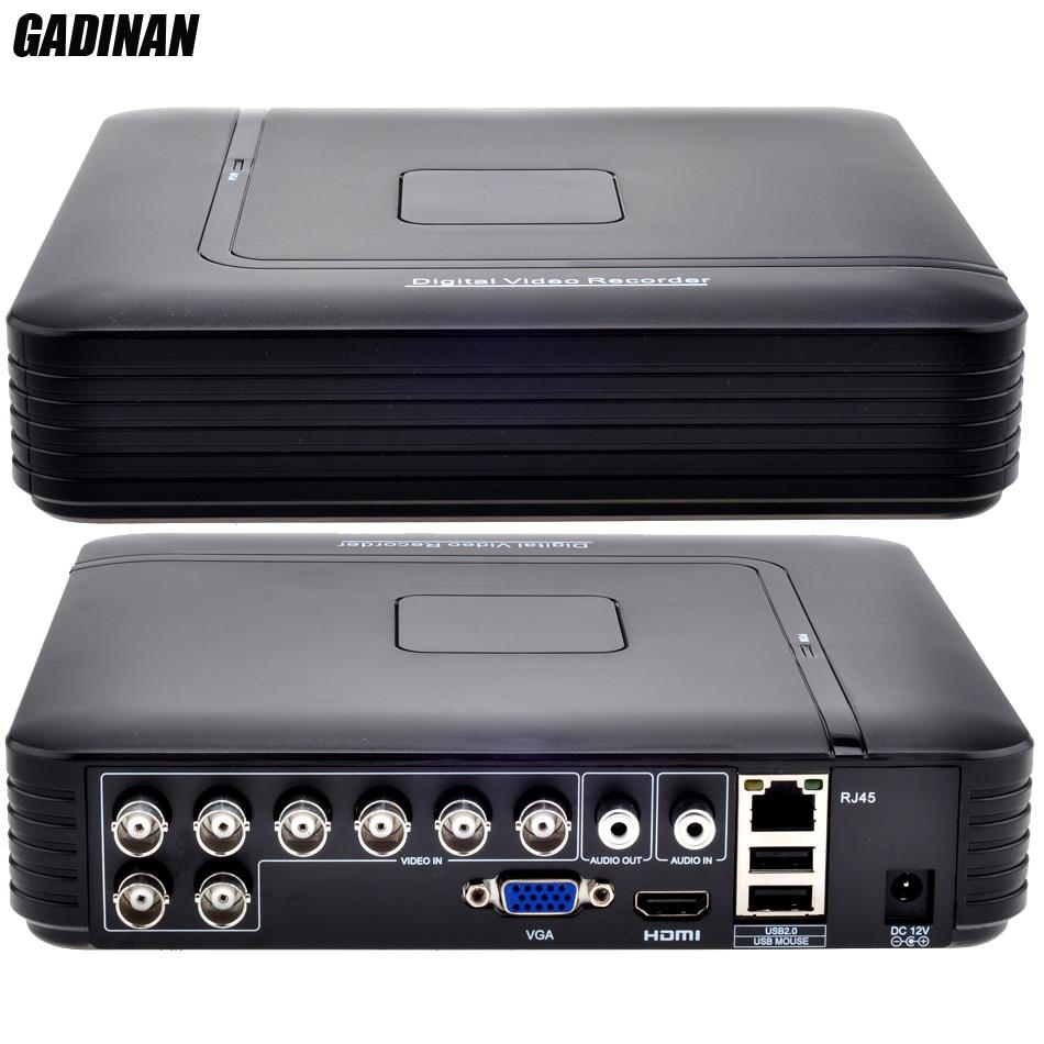 GADINAN AHD 8CH 1080N DVR Système ONVIF mini NVR 8CH 5 en 1 CVI TVI AHD IP HDMI H.264 P2P Nuage réseau CCTV 8CH AHD DVR