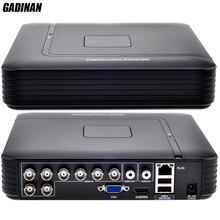 GADINAN AHD 8CH 1080N System DVR ONVIF mini NVR 8CH 5 w 1 TVI CVI AHD IP HDMI H.264 P2P sieci w chmurze CCTV 8CH AHD DVR