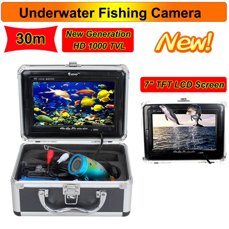 Free Shipping Eyoyo 30M Professional Fish Finder Underwater Fishing Video Camera 7 Color HD Monitor 1000TVL