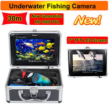 Free Shipping!Eyoyo 30M Professional Fish Finder Underwater Fishing Video Camera 7″ Color HD Monitor 1000TVL HD CAM W/Sunvisor