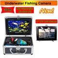 """Frete Grátis! Eyoyo 30 M Inventor Dos Peixes de Pesca Submarina Câmera de Vídeo Profissional 7 """"Color Monitor HD 1000TVL HD CAM W/Sunvisor"""